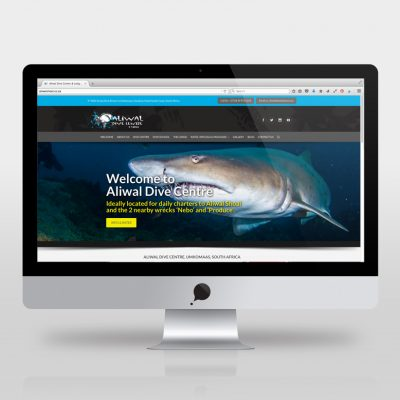 fishNET advertising Portfolio - Website Development - Aliwal Dive Centre