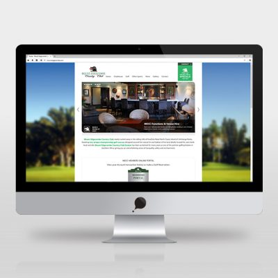 fishNET advertising Portfolio - Website Development - Mount Edgecombe Country Club