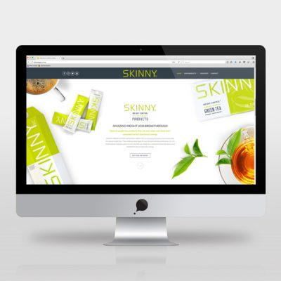 fishNET advertising Portfolio - Website Development - SKINNY Green Products
