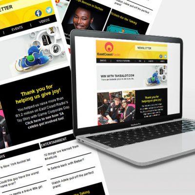 fishNET advertising Portfolio - Digital Media - East Coast Radio (ECR)