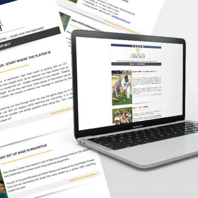 fishNET advertising Portfolio - Digital Media - Gary Kirsten Cricket