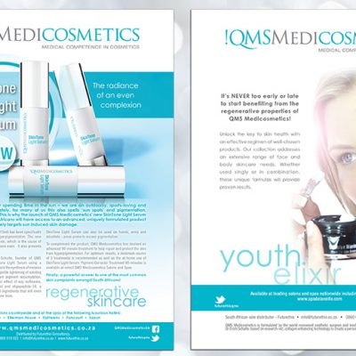 fishNET advertising Portfolio - Advertising & Design - QMS Medicosmetics