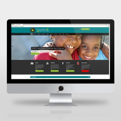 fishNET advertising Portfolio - Website Development - Child Welfare Durban