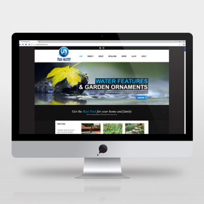 fishNET advertising Portfolio - Website Development - Pool Master