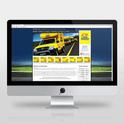 fishNET advertising Portfolio - Website Development - Time Freight