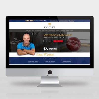 fishNET advertising Portfolio - Website Development - Gary Kirsten Cricket