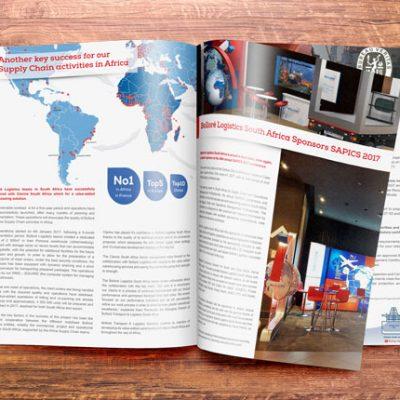 fishNET advertising Portfolio - Advertising & Design - Bollore Logistics Ad