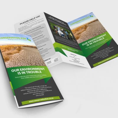 fishNET advertising Portfolio - Advertising & Design - Conservation KZN DL Brochure