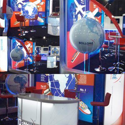 fishNET advertising Portfolio - In-store, Expos & 3D - Bollore Transport Logistics