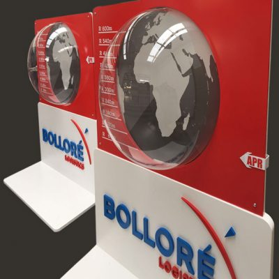 fishNET advertising Portfolio - In-store, Expos & 3D - Bollore Transport Logistics