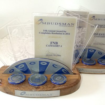 fishNET advertising Portfolio - In-store, Expos & 3D - Ombudsman Trophy
